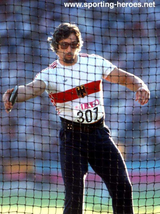 Rolf Danneberg Rolf DANNEBERG 1984 Olympic Games discus Champion West Germany