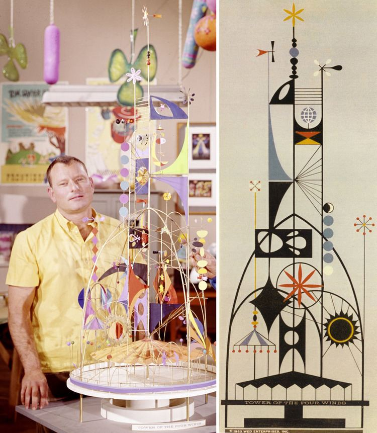 Rolly Crump TOMBOLARE Rolly Crump Tower of the Four Winds model for