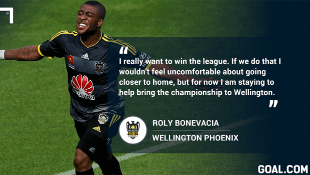 Roly Bonevacia Roly Bonevacia commits to Wellington Phoenix Hyundai A