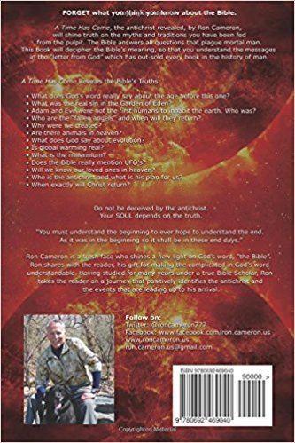 Ron Cameron (biblical scholar) A Time Has Come the antichrist revealed Ron Cameron 9780692469040
