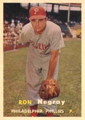 Ron Negray 1957 Topps Ron Negray 254 Baseball Card Value Price Guide