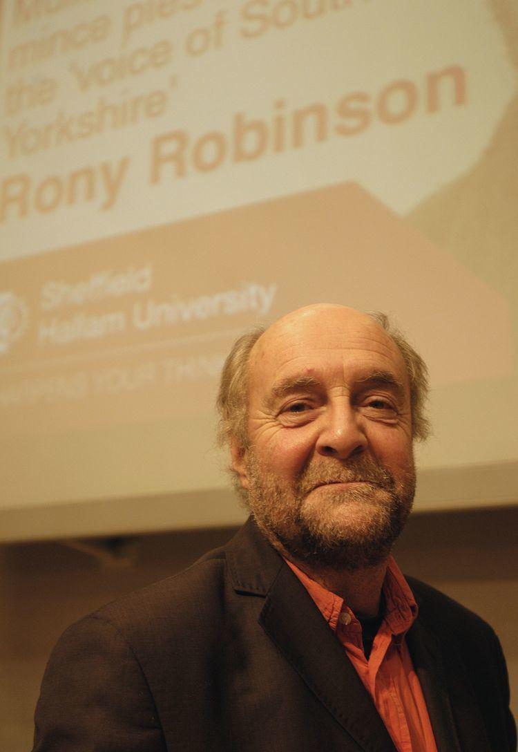 Rony Robinson Rony Robinson unmiked Sheffield Hallam University