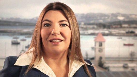 Rosana Bertone La kirchnerista Rosana Bertone gan en Tierra del Fuego