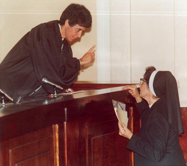 Rosemary Barkett Florida Memory Judge Rosemary Barkett speaks to Sister Mary Victor