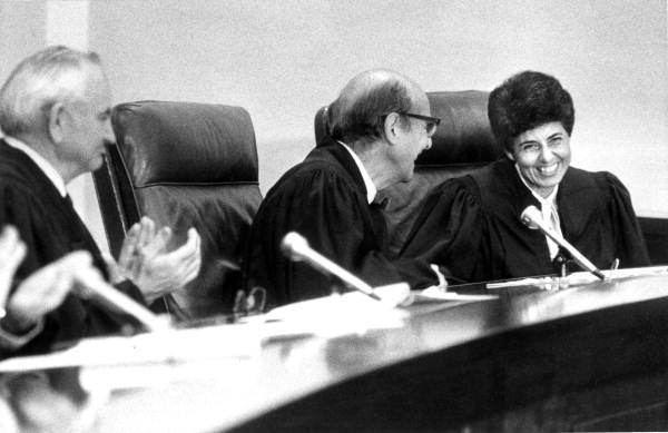 Rosemary Barkett Florida Memory Justice Rosemary Barkett taking her seat