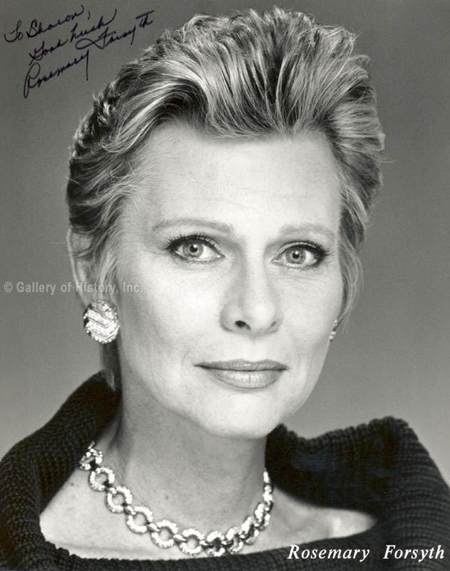 Rosemary Forsyth HistoryForSale Autographs and Manuscripts Rosemary