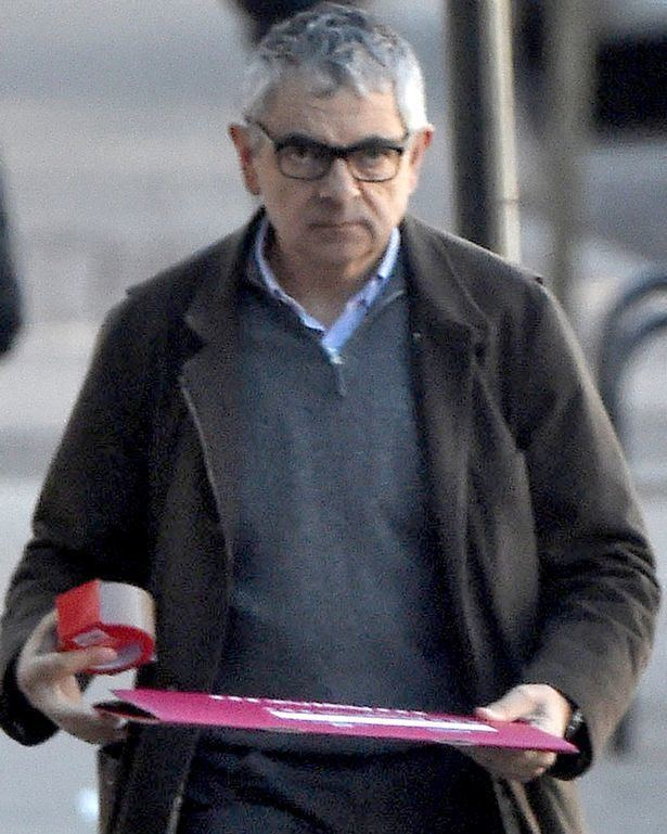 Rowan Atkinson Is Rowan Atkinson having a Mr Bean moment as he appears baffled by