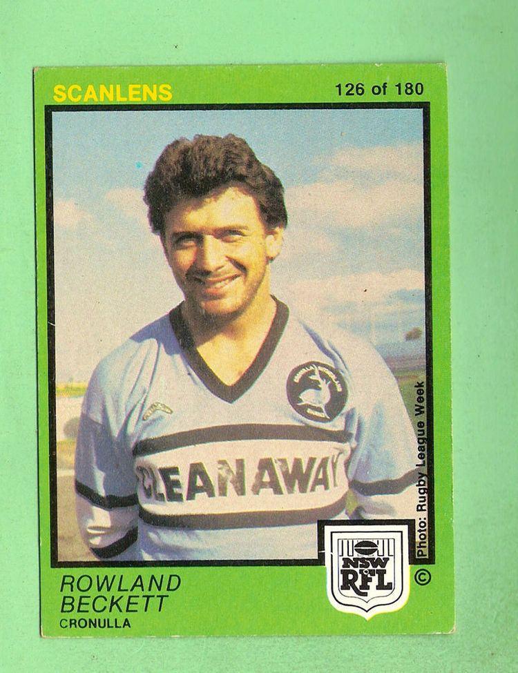 Rowland Beckett 1982 CRONULLA SHARKS SCANLENS RUGBY LEAGUE CARD 126 ROWLAND BECKETT