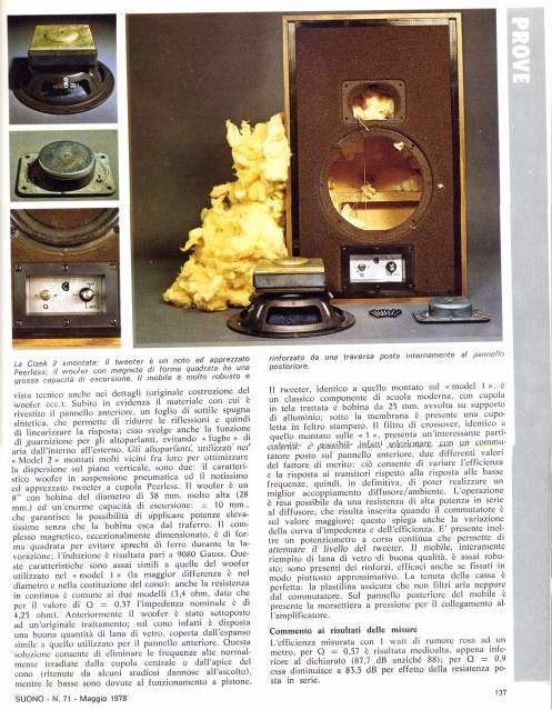 Roy Cizek CIZEK Model 2 MITICI diffusori di Roy Cizek a Eur Portuense
