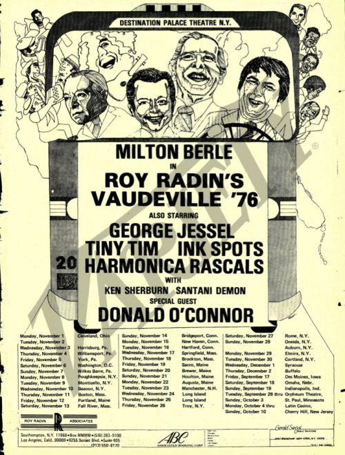Roy Radin's Vaudeville Poster