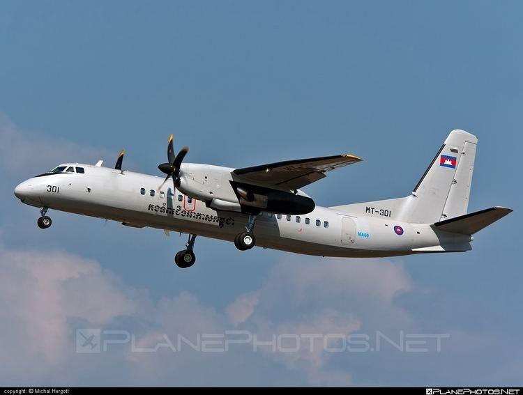 Royal Cambodian Air Force Xian MA60 MT301 operated by Kangtrop Akas Khemarak Phumin Royal