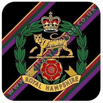 Coaster Army Royal Hampshire Regiment