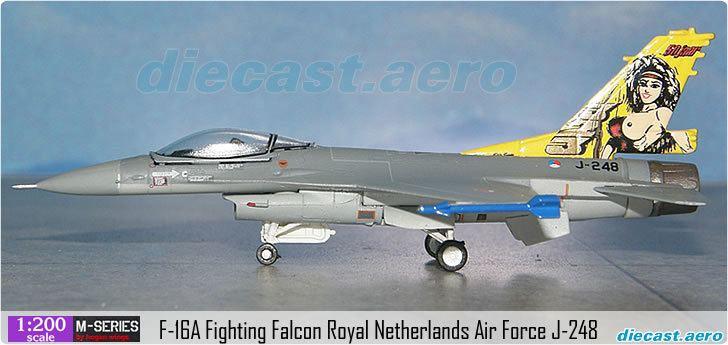 Royal Netherlands Air Force Model Aircraft F16A Fighting Falcon Royal Netherlands Air Force J