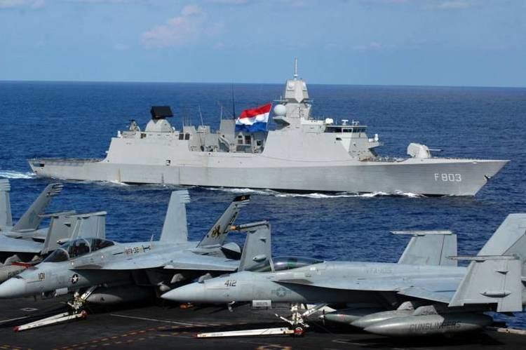 Royal Netherlands Navy F 803 HNLMS Tromp De Zeven Provincien class Guided Missile Frigate