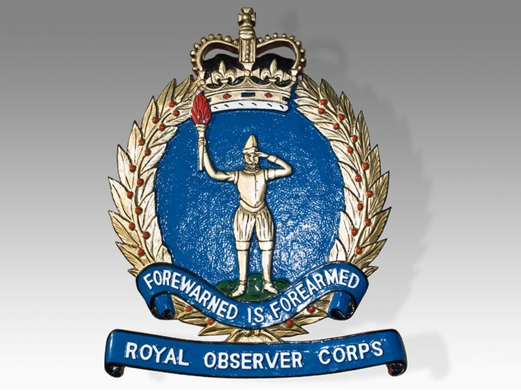 Royal Observer Corps Royal Observer Corps Plaque Tail Shields amp Flashes Plaques amp Seals