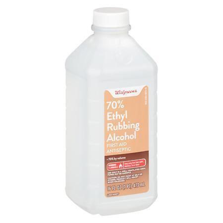 Rubbing alcohol Walgreens Isopropyl Alcohol 91 First Aid Antiseptic Walgreens