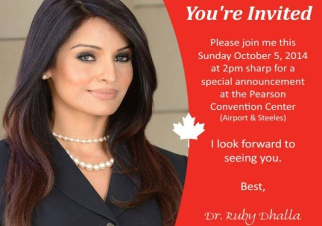 Ruby Dhalla Ruby Dhalla denied nomination by the Liberal Party