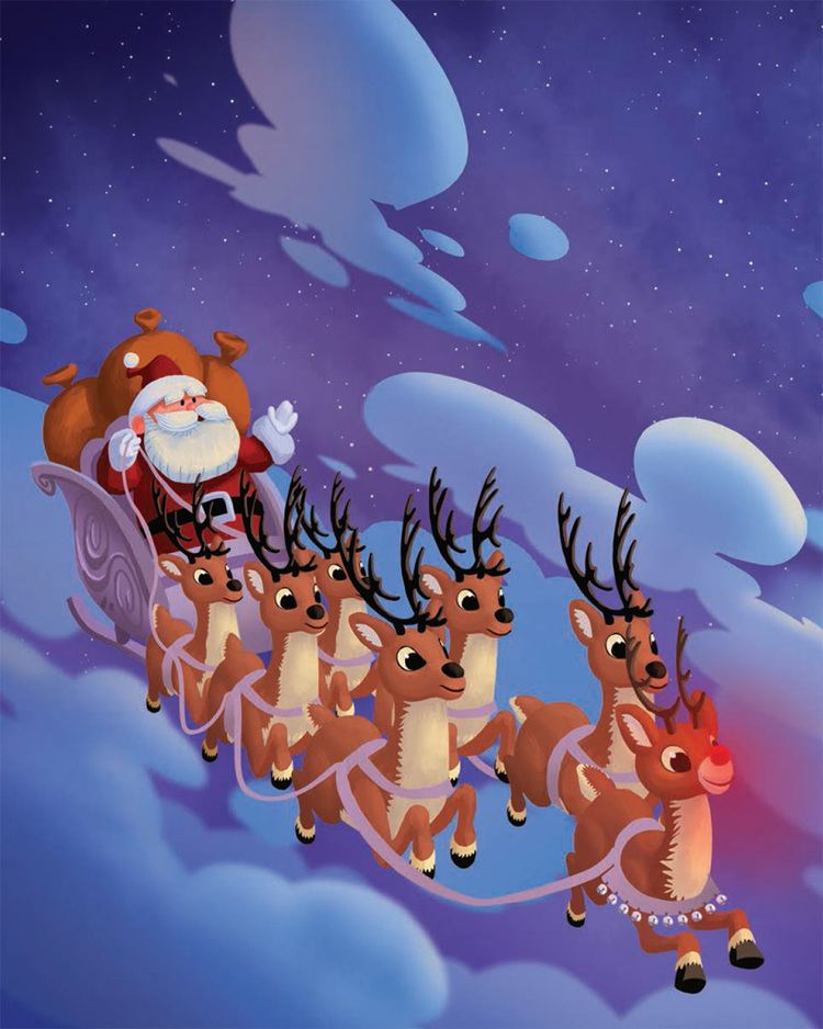 """Image result for rudolph guiding the sleigh"""""""