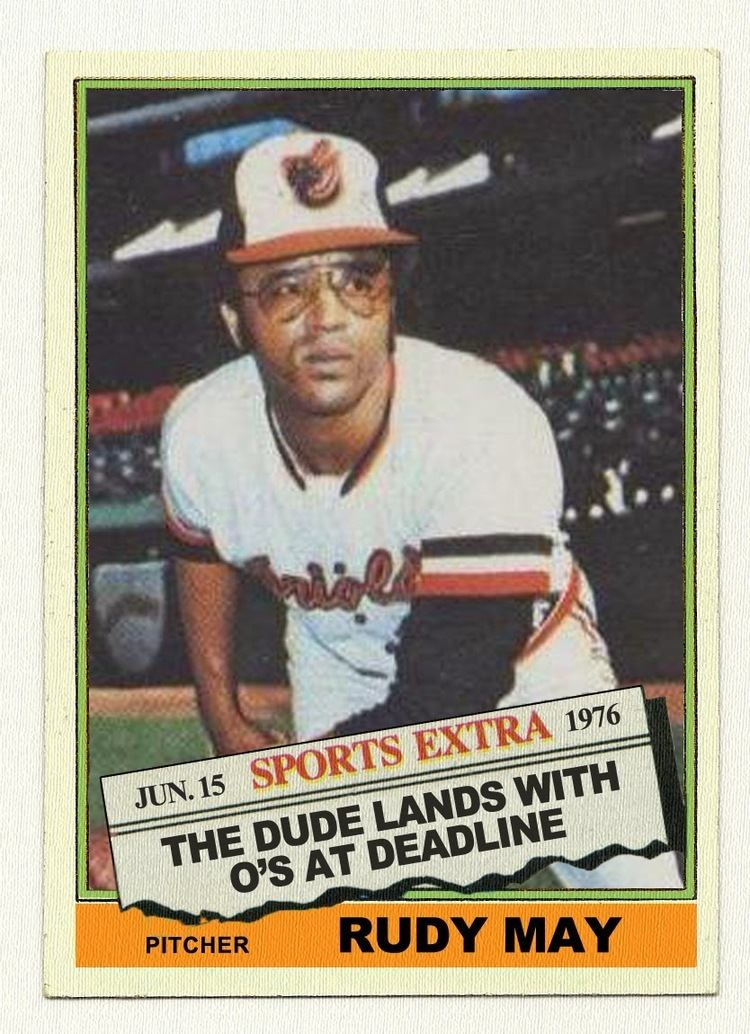 Rudy May The Baseball Card Blog 1976 Topps Traded The Missing Cards 481T