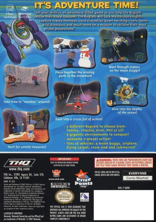 Rugrats: Royal Ransom Rugrats Royal Ransom Box Shot for GameCube GameFAQs