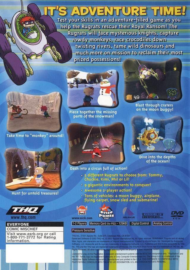Rugrats: Royal Ransom Rugrats Royal Ransom Box Shot for PlayStation 2 GameFAQs