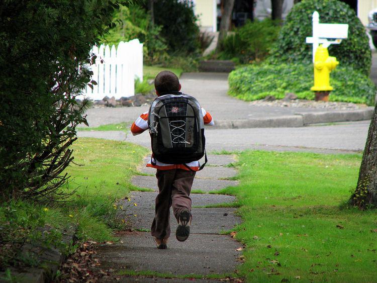 Running Home Running Home Jayden after the first day of kindergarten Ron