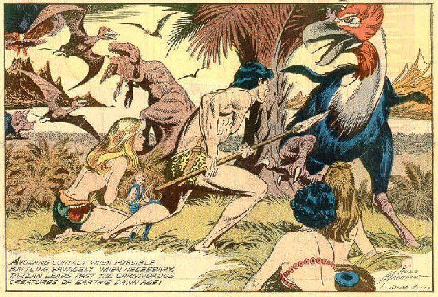 Russ Manning russ manning art Cover from TARZAN no 9 May 1949 by