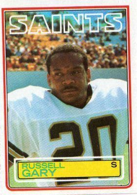 Russell Gary NEW ORLEANS SAINTS Russell Gary 113 TOPPS NFL 1983 American
