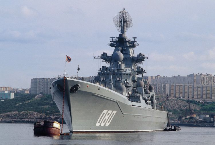Russian battlecruiser Admiral Nakhimov Russia39s Admiral Nakhimov Battle Cruiser to Return to Service by 2018