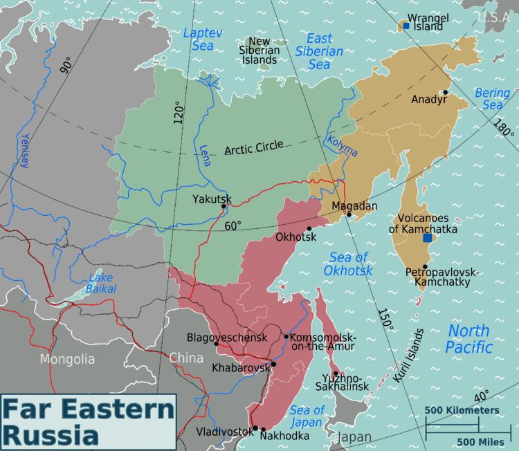 Russian Far East Russian Far East Regions Map Mapsofnet