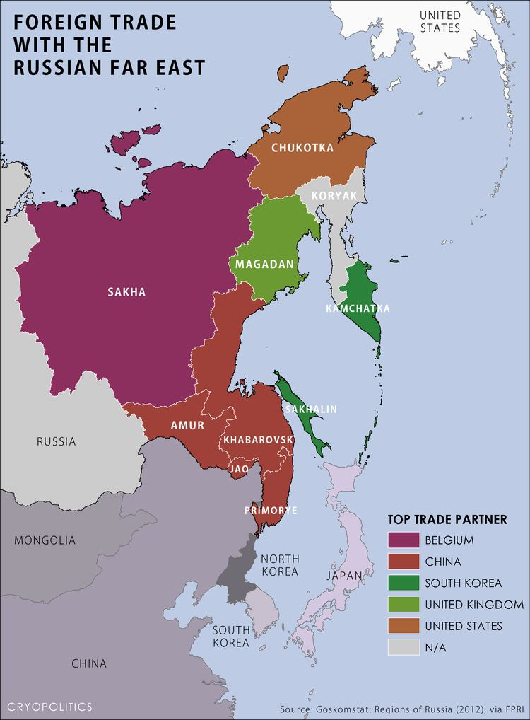 Russian Far East The Russian Far East the Arctic and Foreign Trade cryopolitics