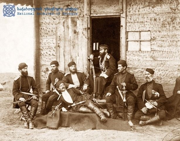 Russo-Turkish War (1877–1878) FileYermakov Georgian officers at Tsikhisdziri RussoTurkish war