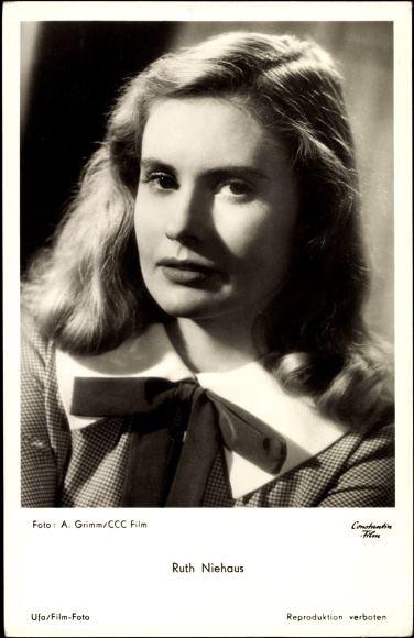 Ruth Niehaus Ansichtskarte Postkarte Schauspielerin Ruth Niehaus
