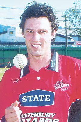 Ryan Burson Portrait of Canterbury player Ryan Burson December 2001