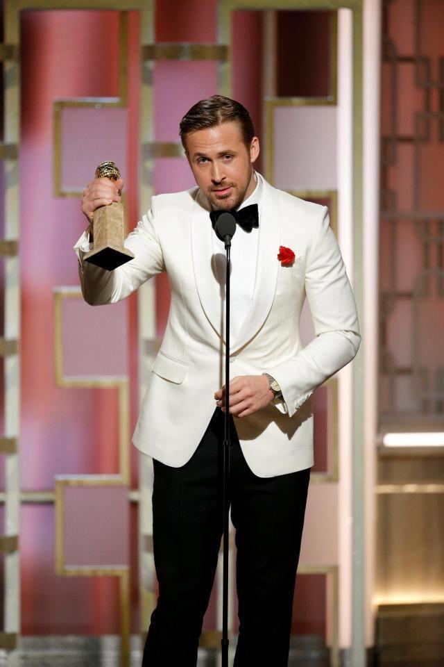 Ryan Gosling Golden Globes 2017 Ryan Gosling paid an emotional tribute to his