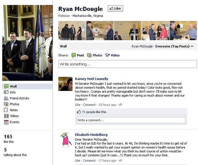 Ryan McDougle Hilarious VA RightWingnut Sen Ryan McDougle Gets a Taste of His