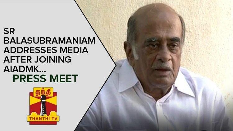 S. R. Balasubramaniam S R Balasubramaniam addresses Media after Joining AIADMK Press