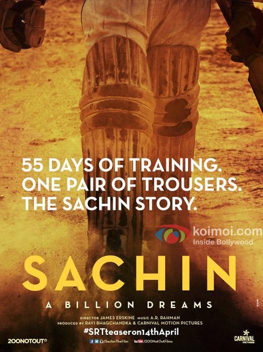 Sachin: A Billion Dreams Here39s The Teaser Poster Of Sachin Tendulkar39s Biopic Sachin A