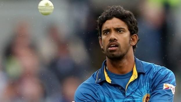 Sachithra Senanayake Sri Lankan banned over bowling action BBC Sport