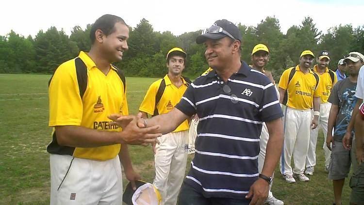 Indian cricketer Sadanand Viswanath meeting Caterpillar team YouTube