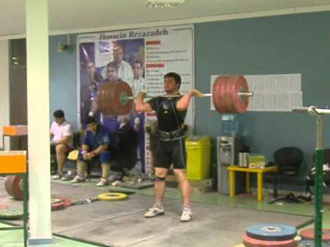 Saeid Mohammadpour Irans Saeed Mohammadpour 220kg clean and jerk YouTube