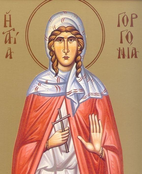 Saint Gorgonia Saint Gorgonia Who Died in Peace Archangel Gabriel Orthodox Church