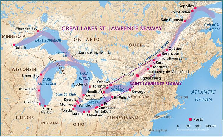 Saint Lawrence Seaway St Lawrence Seaway Inland superhighway Canadian Geographic