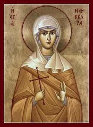 Saint Marcella St Marcella Orthodox Icon Mounted Orthodox Icons of M Saints