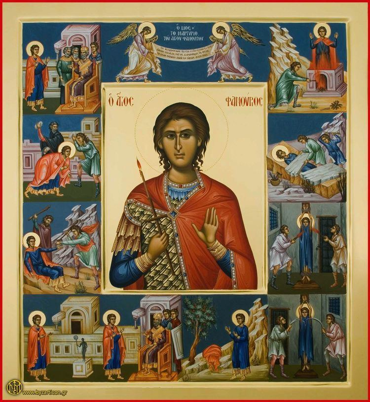 Saint Phanourios Saint Phanourios the Great Martyr and NewlyRevealed of Rhodes OMHKSEA