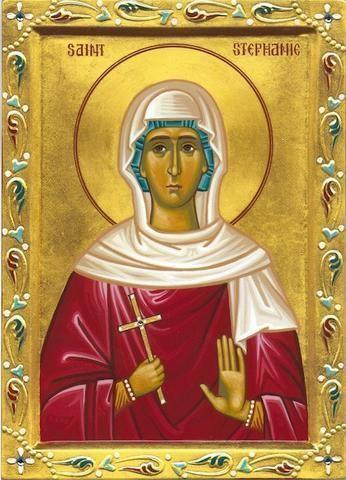 Saint Stephanie Greek orthodox icon of Saint Stephanie orthodoxmonasteryiconscom