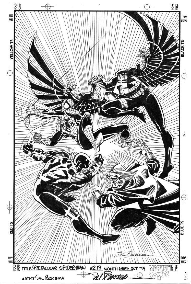 Sal Buscema SAL BUSCEMA SPEC SPIDERMAN 219 COVER Original Comic