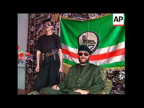 Salman Raduyev RUSSIA CHECHNYA CHECHEN REBEL SALMAN RADUYEV PRESS CONFERENCE