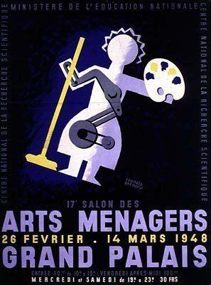 Salon des arts ménagers Salon des arts mnagers affiche 1948 L39Observatoire des Seniors