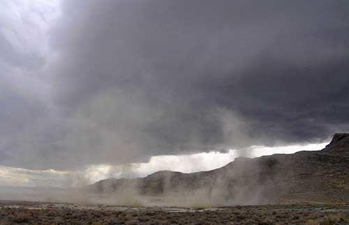 Salt storm Silver Island Bonneville Salt Flats